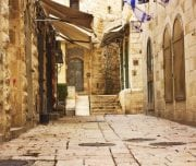 Alley-in-Jerusalem-old-city-Mazada Tours