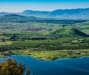Lake-and-conic-hill-at-golan-heights-Mazada Tours