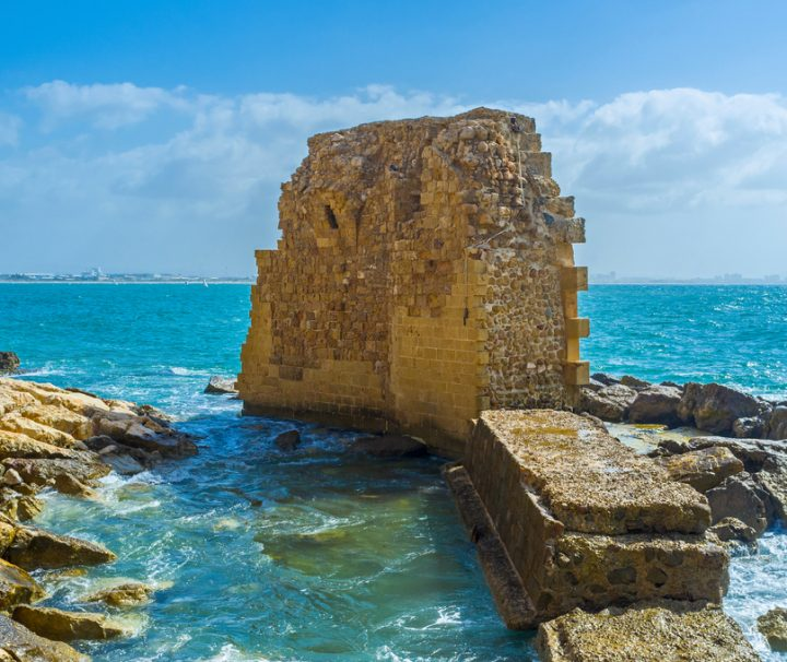 ruined-crusaders-harbor-Mazada Tours