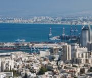 View-of-the-city-and-the-port-of-haifa-in-israel