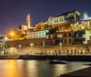 jaffa-in-tel-aviv-at-night-Mazada Tours