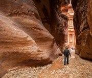 tourist-walking-to-the-treasury-Mazada Tours