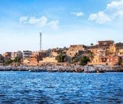 Nile River at The temple of Philae in Aswan - mazada tours