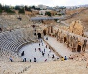 Opera House ruins at jerash - Mazada tours