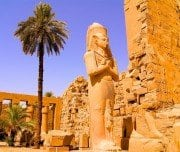 Statue in The Temple of Karnak - Mazada Tours