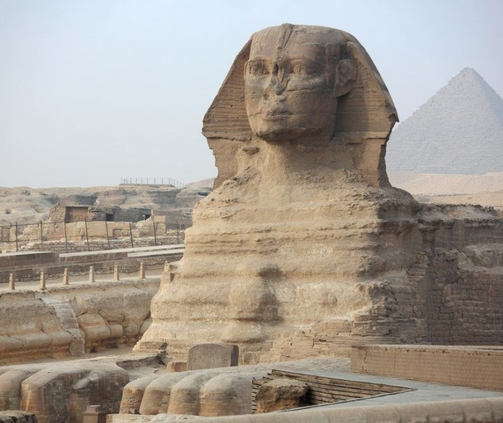 The Sphinx at Giza and Pyramid - Mazada Tours