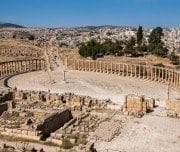 oval-plaza-of-jerash-Mazada Tours