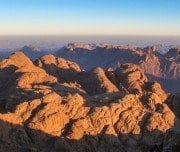 View of the Holy Summit of Mount Sinai
